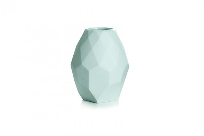 Small Diamond Vase in Faded Mint