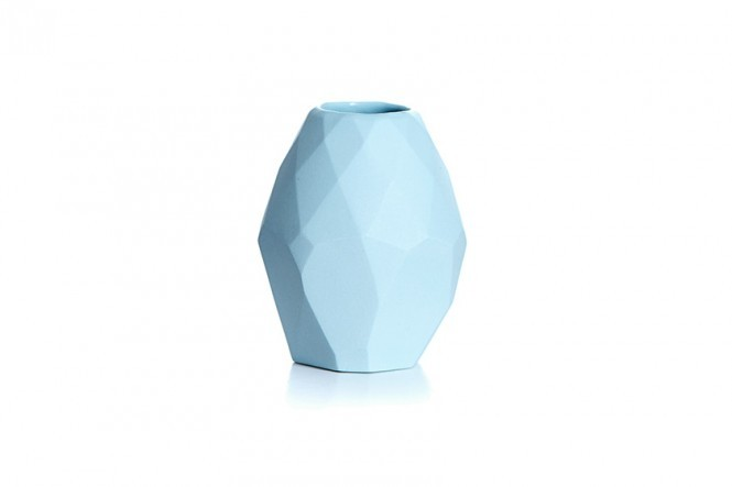 Small Diamond Vase in Turquoise Lush