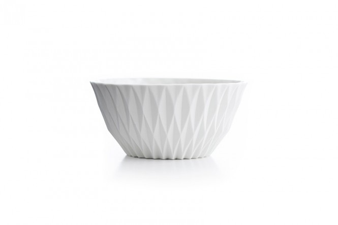 Sparkle Bowl in Ivory White