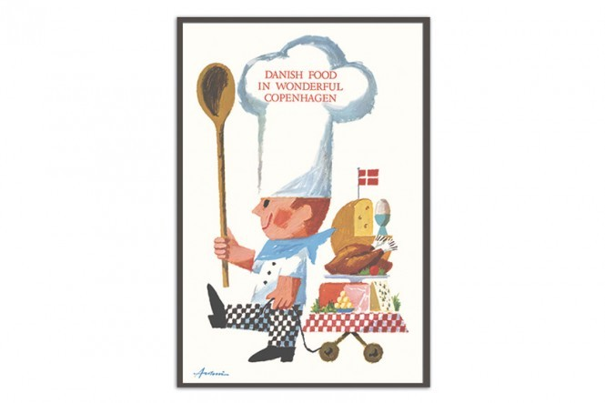 Poster by Ib Antoni Danish Food in wonderful Copenhagen