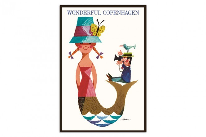 Wonderful Copenhagen Mermaid Poster