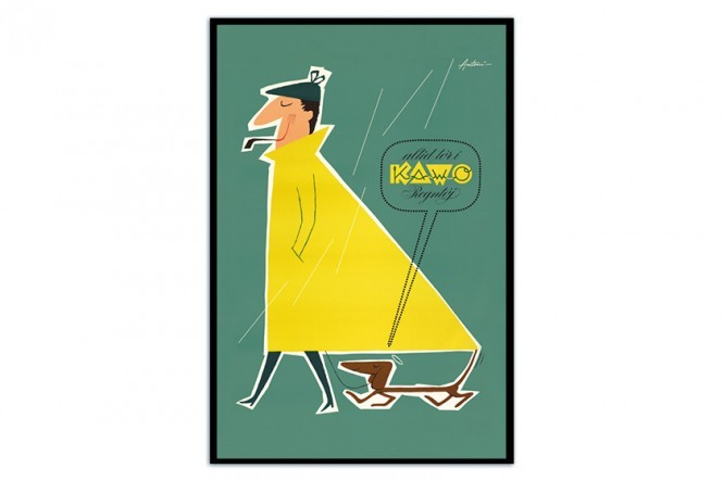 Always Dry in Kawo Rain Coats Poster by Ib Antoni