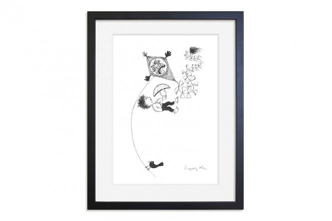 The Boy in the Moon Print