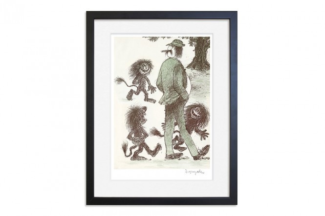 Five Small Troll Children Print
