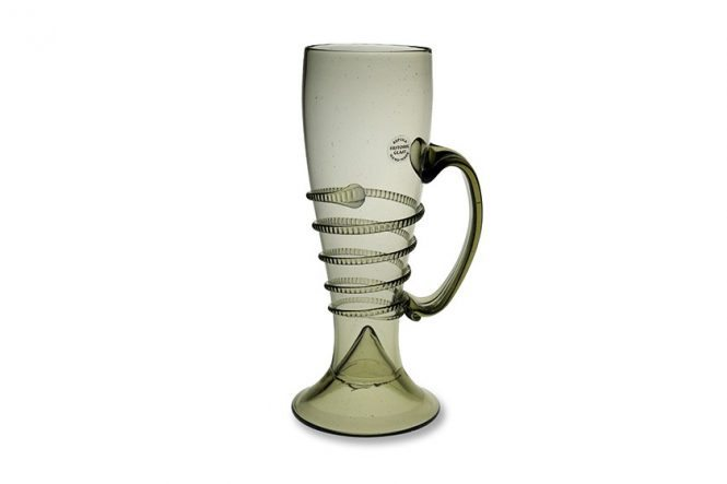 Tall, Slim Beer Mug with Handle