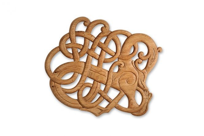 Viking Woodcarving Relief