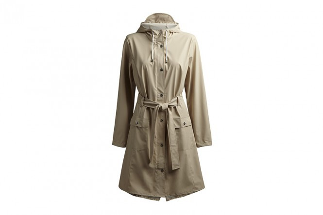 Curve Rain Jacket in Sand