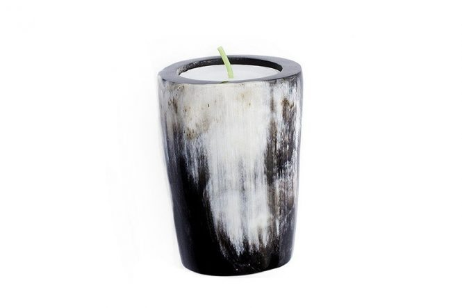 Polished Horn Candleholder