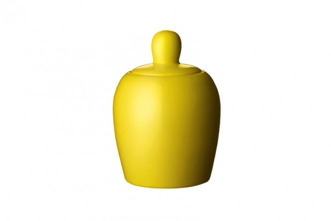 Bulky Sugar Bowl in Yellow