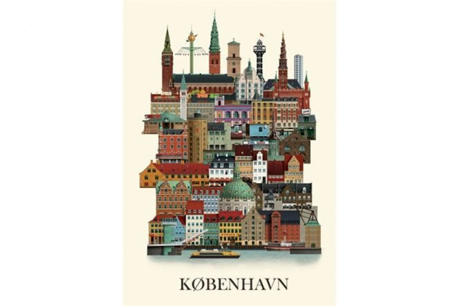 Copenhagen Illustration Poster