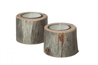 The North Atlantic House Kelo Wooden candleholder small