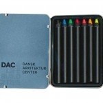 DAC crayons in metal case crayon colour