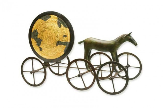 The Sun Chariot in Bronze Original Size