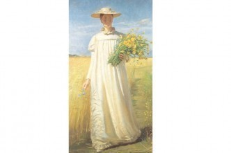 Anna Ancher returning from the field. 1902