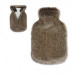 Hot Water Bottle in Faux Fur