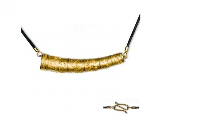 Gold Horn Pendant , Gold Plated