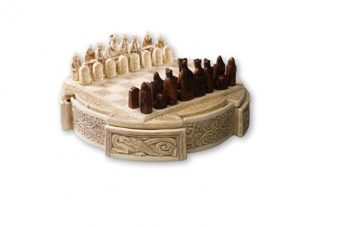 Lewis chessmen in a Chess Game