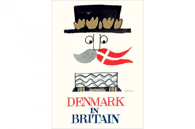Ib Antoni – Denmark in Britain Train Steward Poster
