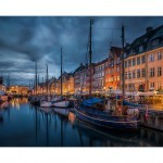 Nyhavn in Copenhagen at Night Time