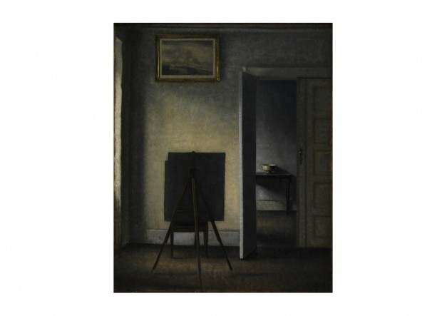 Hammershoi – Interior with the Artist's Easel Print