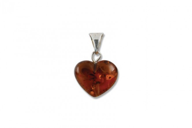 Pendant With Amber Heart