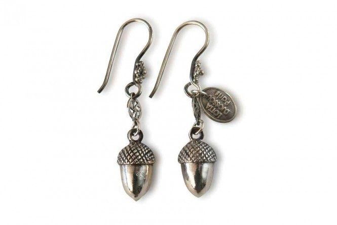 Earrings with Acorns