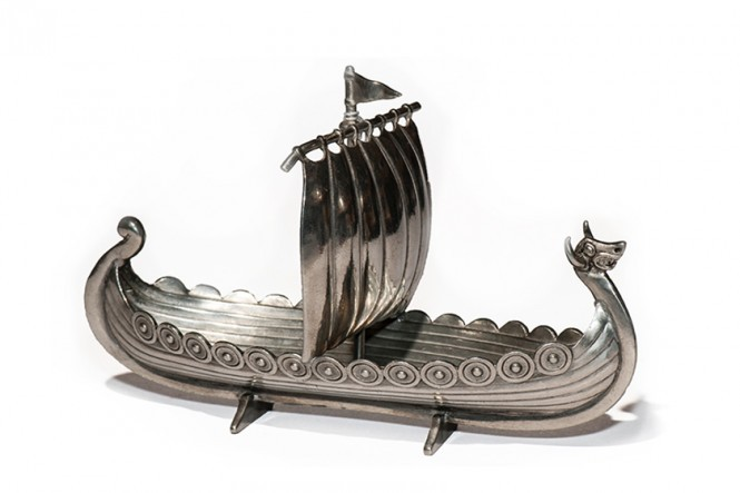 Viking Ship in Pewter