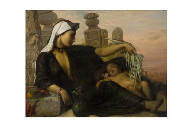 An Egyptian Fellah Woman with her Baby