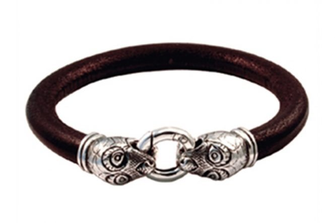 Viking Age Leather Bracelet