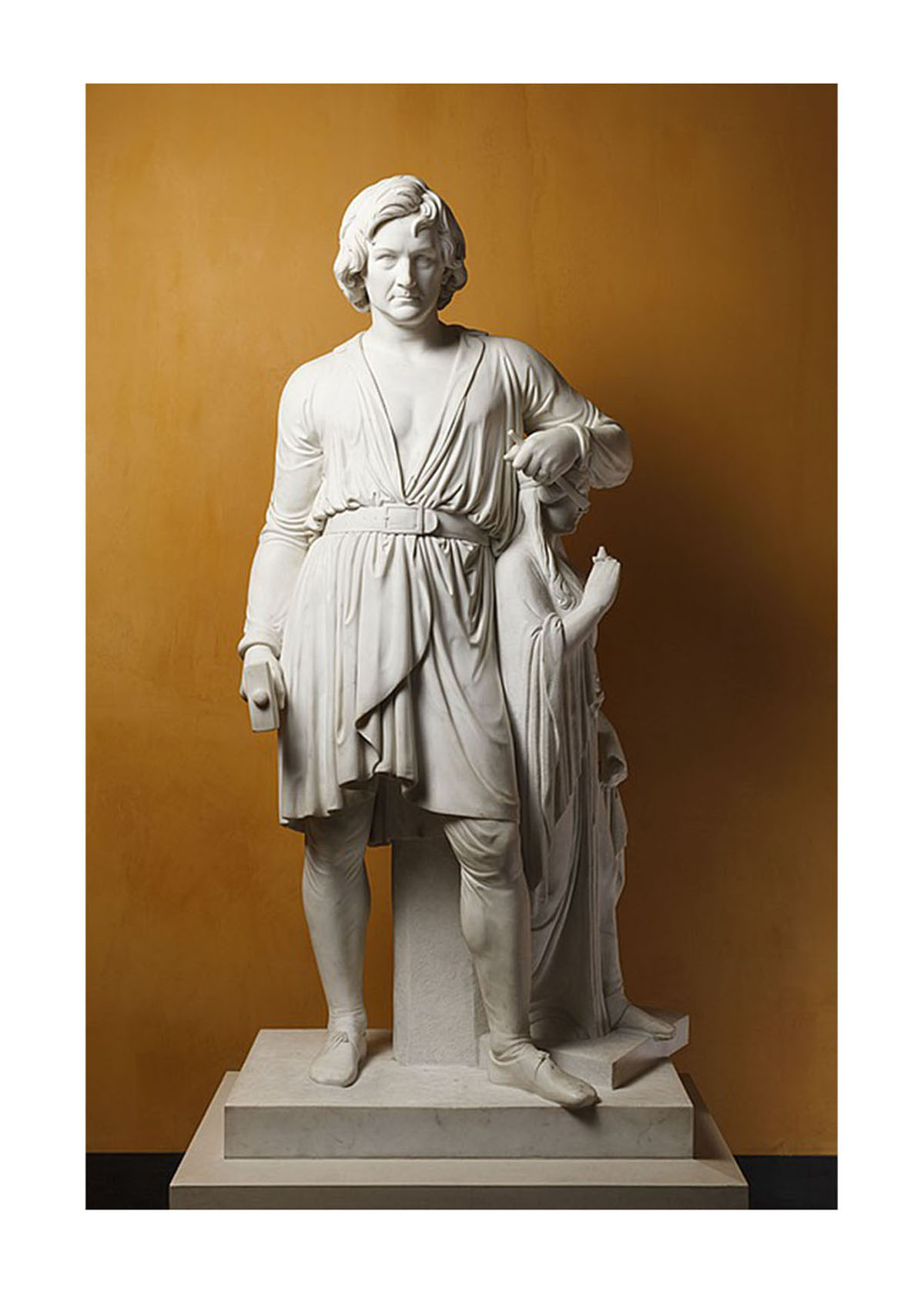 Bertel Thorvaldsen with the Statue of Hope – Art Print
