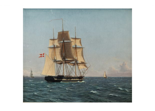The corvette Najaden under sail – Art Print