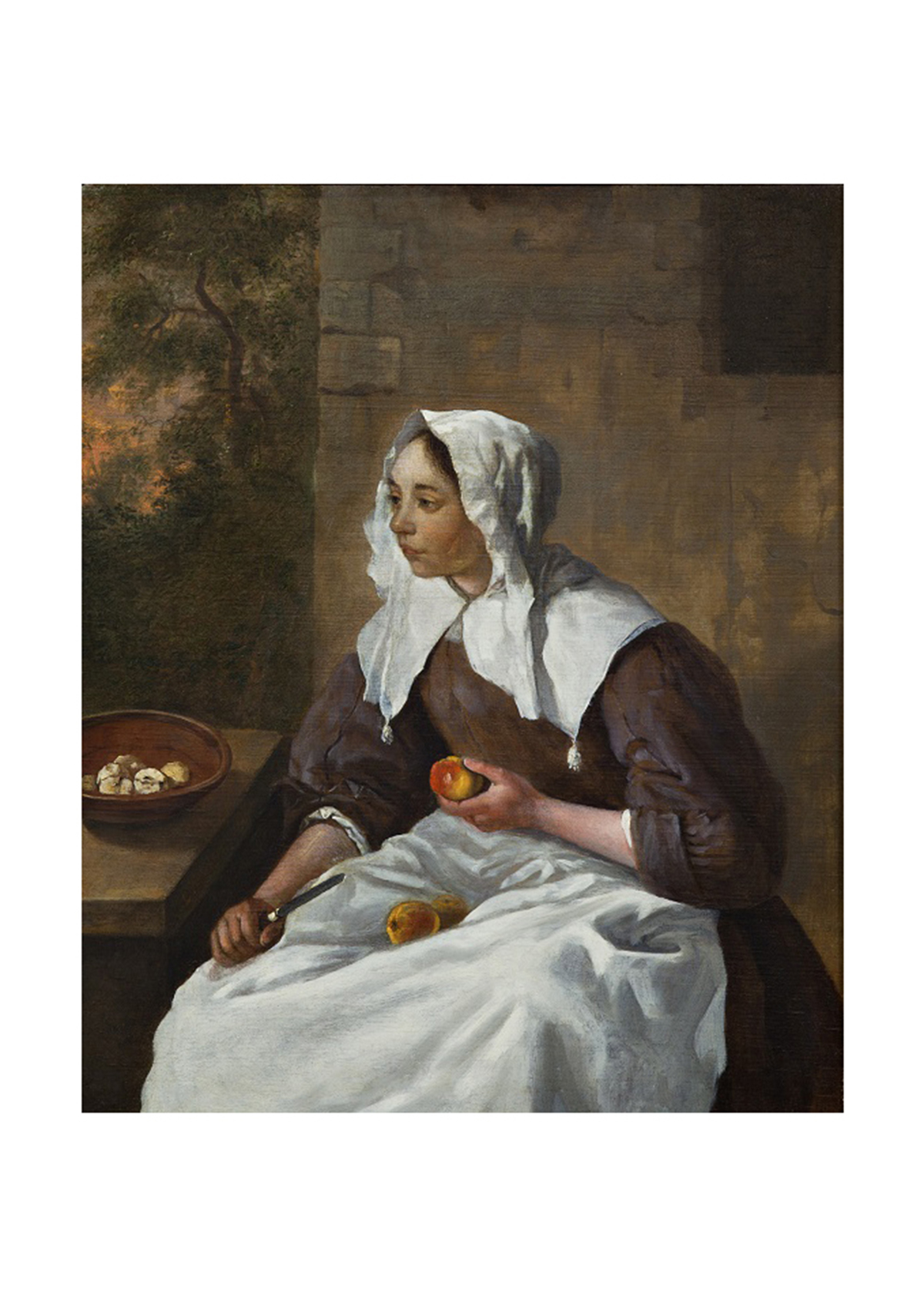 Girl Peeling Apples