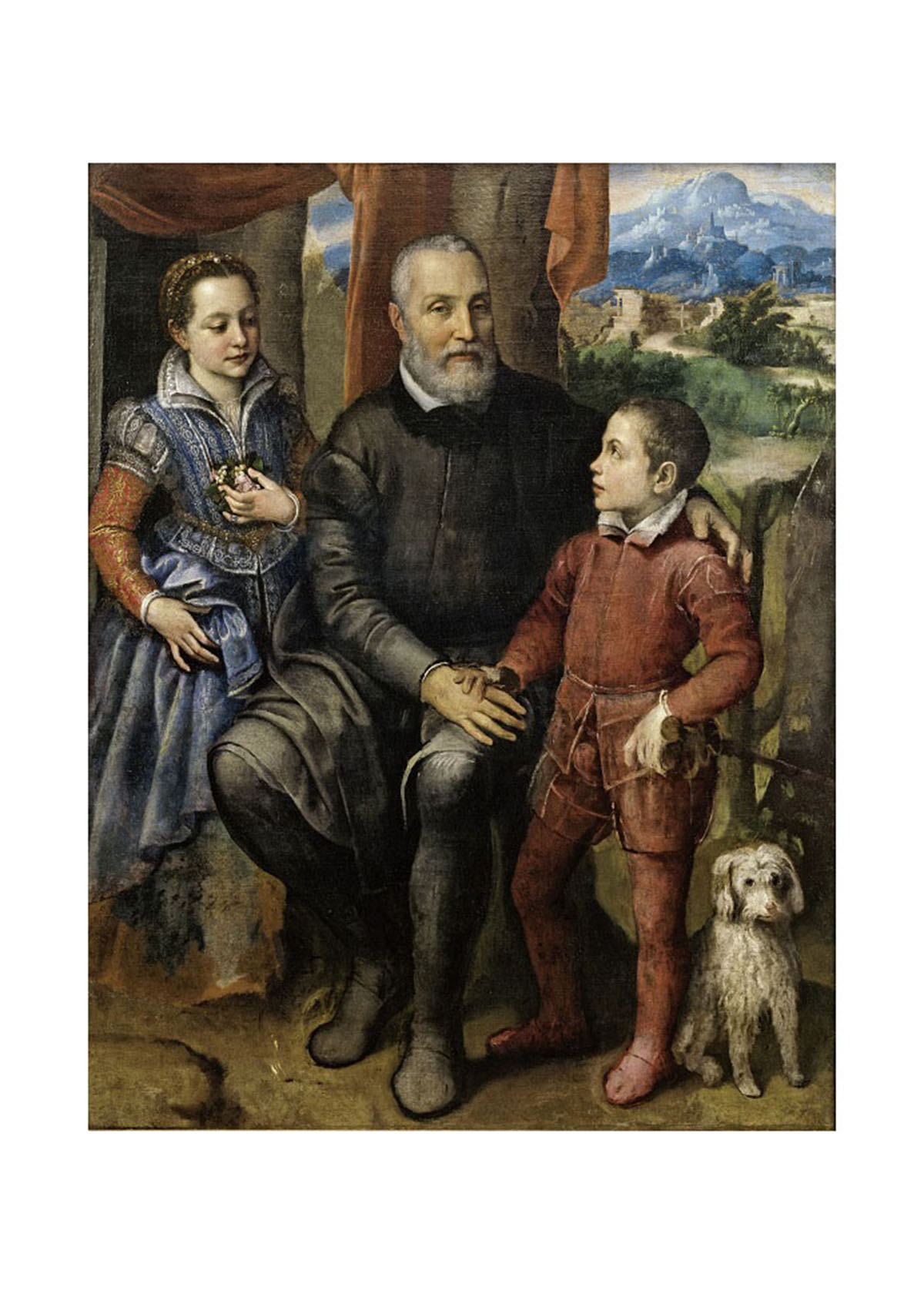 Portrait Group with the Artist's Father Amilcare Anguissola and her siblings Minerva and Astrubale